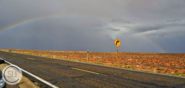 monument valley rainbow arcoiris